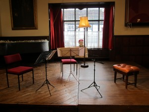 Stage set ready to play at the Shakespeare Institute 15.12.13