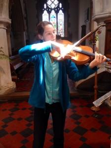 Ready to record at St John The Baptist, Aldbury