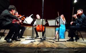 The Kreutzer Quartet with Diana Mathews - viola performing Beethoven's String Quintet Op. 29 at Wiltons Music Hall