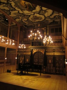 About to rehearse with James Young, pianist, at the Wanamaker Playhouse