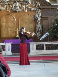 In performance at St. James', Piccadilly. 19.12.14