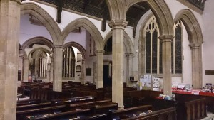 The beautiful arches at St Helen's, Abingdon