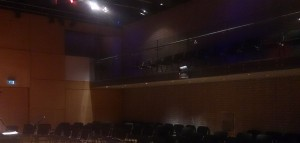 Looking out from the stage in the Carol Nash Recital Room at the RNCM