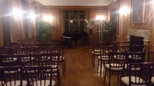 The concert room at Burgh House. 20.8.15