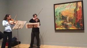 Performing 'Mornington Caprice' with Peter Sheppard Skaerved (violin). Photo (Lee Hallman)