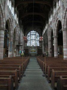 Stage set for the concert at All Saints', Hertford. 1.6.16